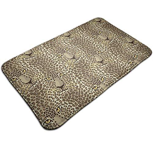 WITHY Cheetah Print Art Bathroom Mat Anti Slippery Door Floor Mat Indoor/Outdoor/Front Entrance Welcome Doormat(15.7X23.6 inch/40X60cm) Glitter Cheetah Print
