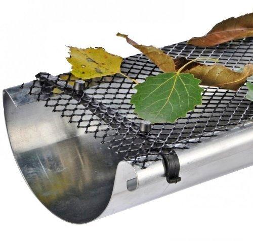 Bid Buy Direct® Dach Gosse Schutz Raster–6Meter x 17,5cm Flexibel Kunststoff Gitter mit 16Clips | hält Dach Gosse reinigen und verhindert Verstopfen der Blätter und andere Verschmutzungen | witterungsbeständig | Bruchsichere | Einfache Montage–Kann auf jede Größe zugeschnitten. Dachrinne Handschuh