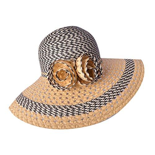 Version Coréenne De L'été Les Femmes Les Chapeaux De Soleil De La Mode Chapeau De Plage Arc Dayan Mao LightCoffee