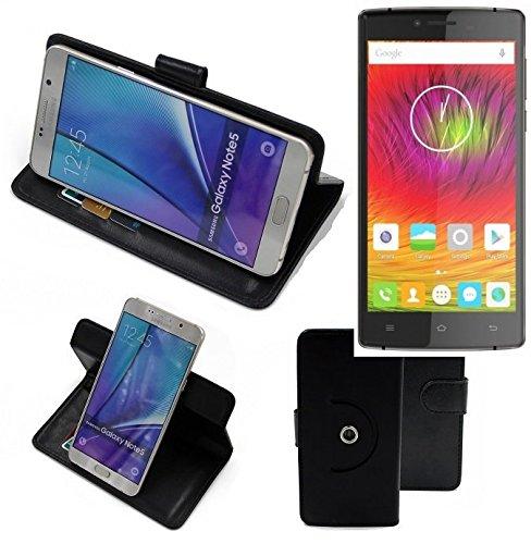 K-S-Trade® Case Schutz Hülle Für -Cubot S600- Handyhülle Flipcase Smartphone Cover Handy Schutz Tasche Bookstyle Walletcase Schwarz (1x)