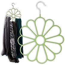 """Schalhänger am Bügel """"FlowerPower"""" für den Kleiderschrank"""
