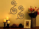 #5: Collectible India Set of 2 Wall sconces Tealight Candles Holders with 6 Glass Cup wall sconce