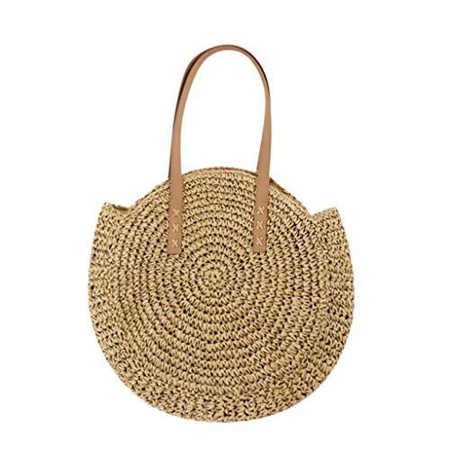 DAKERTA Handgewebte Damen Rattan Tasche Handarbeit Umhängetasche Strandtasche Sommer Straw Braided Woven Bag Sling Bag Alicia Sling