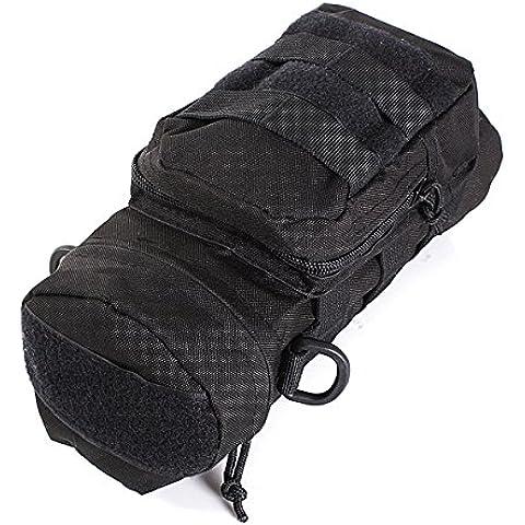 Utility Tactical outdoor bottiglia d'acqua duffel bag - nero