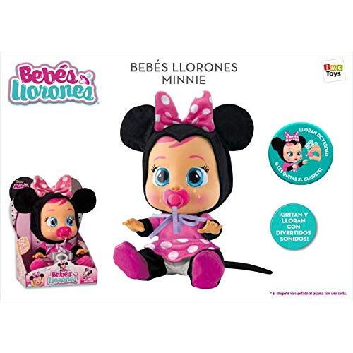 IMC Toys Bebes LLORONES Minnie, (2)