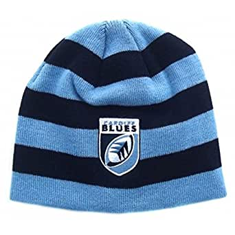 Cardiff Blues Striped Acrylic Rugby Beanie Cronulla - size One Size
