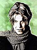 PAINTING PORTRAIT POP STAR MUSICIAN DAVID BOWIE FRAMED PRINT F12x9761