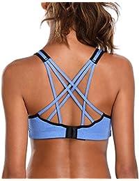 5bac4ba662 CharmLeaks Women s Light Support Sports Bra Strappy Cross Back Workout Tops