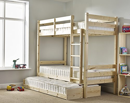 Strictly Beds And Bunks Limited Bunk Bed With Guest Bed 3ft Single Bunkbed With Pull Out Trundle Can Be Used By Adults Buy Online In Aruba At Aruba Desertcart Com Productid 53989030