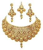 #10: Youbella Gold Plated Necklace Jewellery Set With Earrings For Women