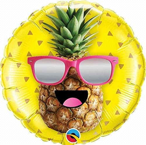 Unbekannt Qualatex 57271rund Ananas MR COOL Latex Ballon, 18