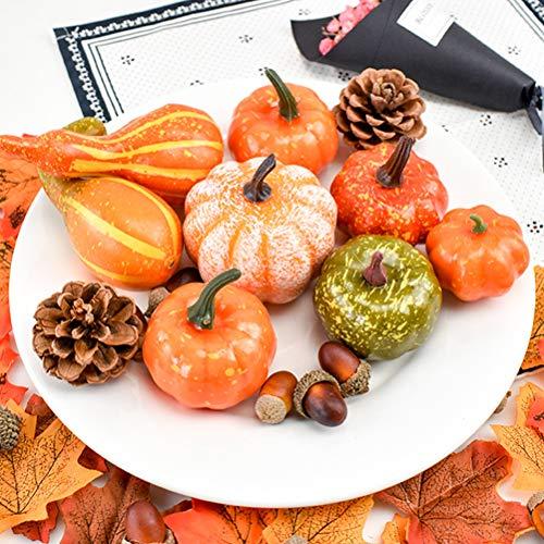 Fruits Basket Halloween Kostüm - Halloween Mini Künstliche Kürbisse Kürbisse Ahorn