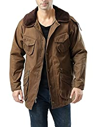 BGSD Luxury Lane Men's Outdoor Waterproof Rugged Field Jacket - Brown L