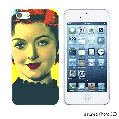 OBiDi - Celebrity Star Hard Back Case / Housse pour Apple iPhone SE / Apple iPhone 5S / 5 - Beautiful Queen Elizabeth II Myrna Loy