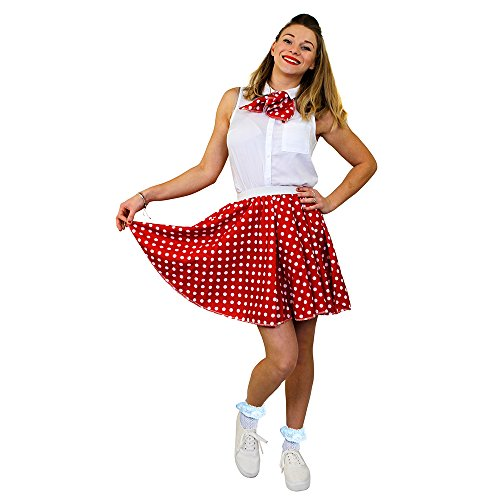I Love Fancy Dress ILFD7016PS Damen-Rock mit Punktmuster, Länge: 43,2 cm, Größe 42–46