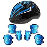 CMYKZONE Kid\'s Skateboard Helmet Set, Roller Skating Scooter Cycling Skateboard Helmet, Knee And Elbow Pads Safety Pad Safeguard Gear Pads