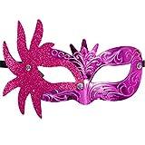 HOOUDO Masque Carnaval Masque Mascarade Masques De Bal pour Les Femmes,Masques De Mascarade VéNitienne Mardi Gras Party Costume FêTe des Masques pour DéCorer Rose Chaud Taille Unique