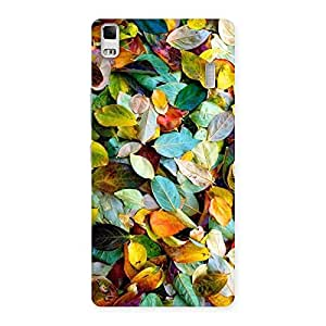 Delighted Beautiful Colorfull Leafs Back Case Cover for Lenovo A7000