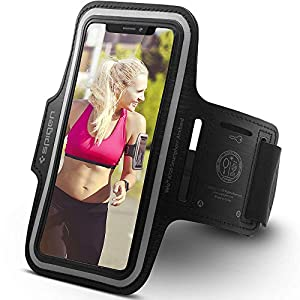 Spigen Running Phone Armband for iPhone XR/XR Max/XS/XS Max/X/X Plus/8/8 Plus/7/7 Plus/Galaxy S10/S10 Plus/S9/S9 Plus/S8/S8 Plus/Huawei/p30/p20/Smart/Google Pixel XL/LG G6/and more - A700 Black