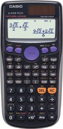CASIO FX-85DE Plus wissenschaftlicher Taschenrechner/Schulrechner mit 252 Funktionen und natürlichem Display, Solar/Batterie