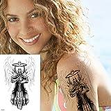 Handaxian 3pcs Tatuaje ángel Beat Diablo diseño Brazalete Hombres Acuarela Tatuaje 3pcs-8