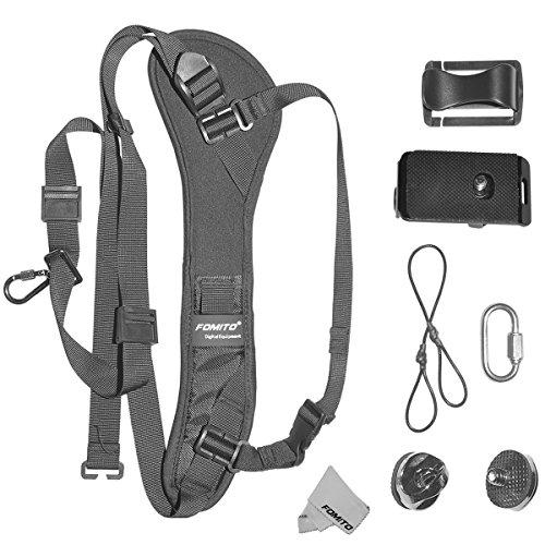 Fomito Schneller Schulter-Schlinge-Gurt-Ansatz-Bügel für Canon Nikon Sony Kamera DSLR SLR DV (Nikon-gurt-clip)