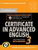 Cambridge Certificate in Advanced English 3 for Updated Exam Self-study Pack (Student's Book with answers and Audio CDs (2)): Examination Papers from ESOL Examinations (CAE Practice Tests)
