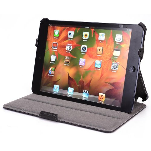 iPad Mini PU Leather Case with Kickstand - Black