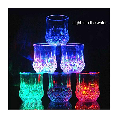 Cup Water Activated Light Up Water Coffee Mug for Bar Club Christmas Party Supplies ()