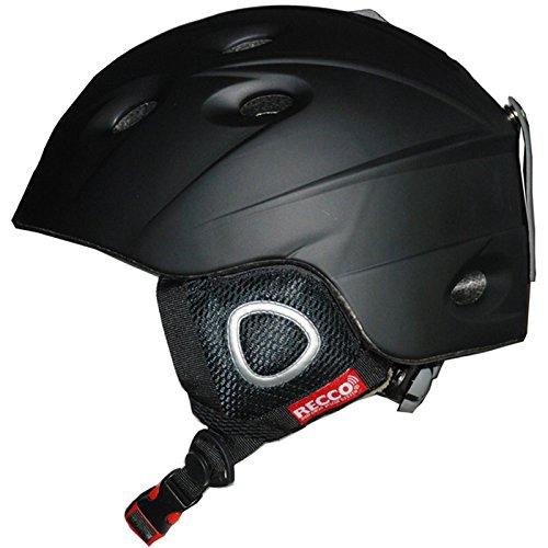 Cox Swain Ski-/Snowboard Helm Inmold Recco - mit Recco Lawinenreflektor, Farbe: Black, Größe: L