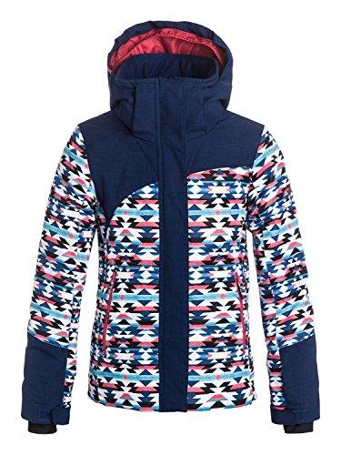 Roxy Snow Jackets - Roxy Flicker Girls Snow Jacket - Geofluo/Blue Print