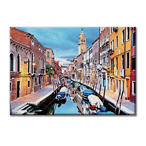 KiarenzaFD Leinwand-Panel Leinwand Italien Venedig-Kanal KleinMobel 70x50 cm