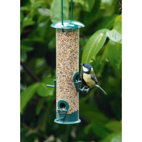 Land-Haus-Shop® Vogelfutter Station, Vogel Futter Haus Station, Kunststoff, Deckel aufschraubbar -