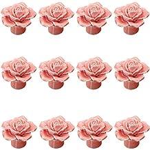 Retro Rose Keramik Möbelgriffe Türgriffe Schrankgriffe Möbelknopf Griffe