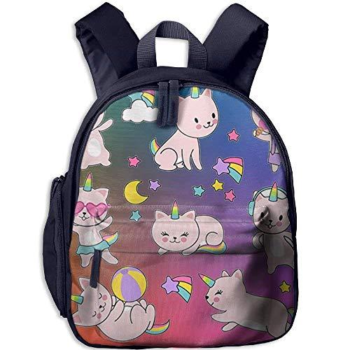 Kindergarten Boys Girls Backpack Cute Cat School Bag