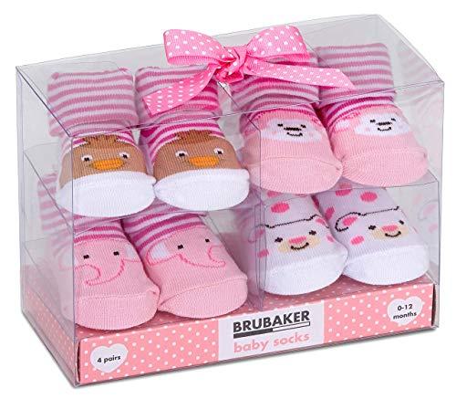BRUBAKER - Chaussettes bébé - Lot de 4 Paires - Fille 0-12...