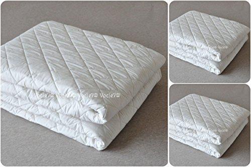 Protector de colchón acolchado extra profundo de 30 cm ~ elástico ajustable para colchón / base de colchón / funda de colchón ~ todos los tamaños del Reino Unido, Relleno de poliéster, Doublé