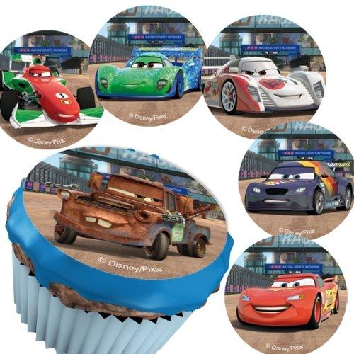 DEKOBACK Zucker-Muffinaufleger Cars Backen, mehrfarbig