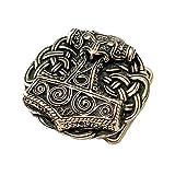 Hebilla Cinturón de martillo de Thor de Schonen, Vikingo,Thor, Odin, Martillo, marrón