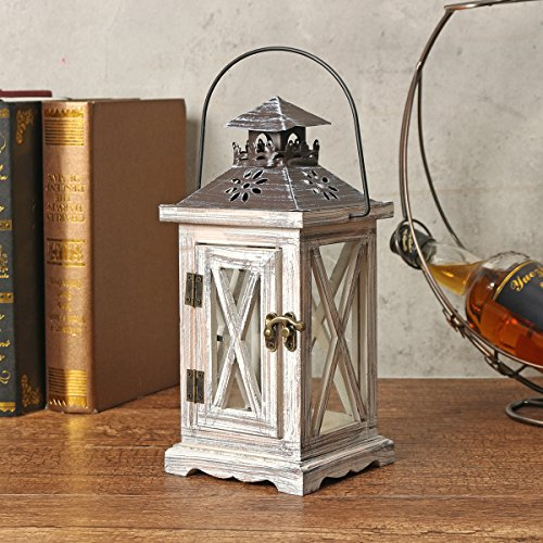 KINGSO 12.3x12.3x28cm Retro Hanging Lantern Candle Holder Lamp Tealight Candle Tray Chimney Candle Cage Tableware Premium Quality ASS