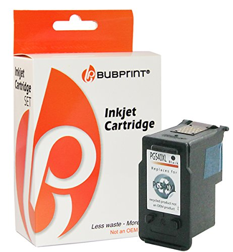 Preisvergleich Produktbild Bubprint Druckerpatrone kompatibel für Canon PG-540XL PG 540XL für Pixma MG2100 MG2150 MG2200 MG2250 MG3150 MG3250 MG3255 MG3500 MG3650 Schwarz Black