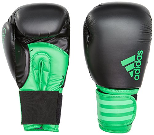 adidas Hybrid 100 Boxhandschuhe, Schwarz/Grün, 10 oz