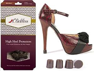 Dark Brown Clickless® Heel Protectors