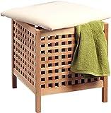 HomeTrends4You Wäschehocker, Holz, Natur