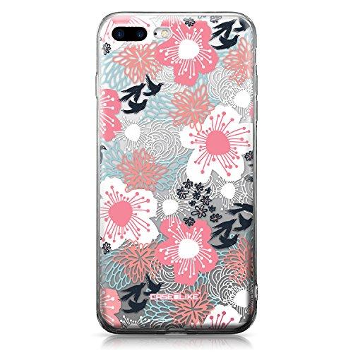 CASEiLIKE iPhone 7 Hülle, iPhone 7 TPU Schutzhülle Tasche Case Cover, Comic Beschriftung 2914, Kratzfest Weich Flexibel Silikon für Apple iPhone 7 Floreale Giapponese 2255