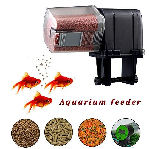 Wood.L Automatisierte Futterspender Für Fische Aquarium Futterautomat, Aquarium Feeder Mit Großer Kapazität Automatische Fischzufuhrr
