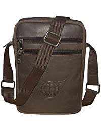 Style98 100% Genuine Real Hunter Leather Unisex Crossbody Sling Bag