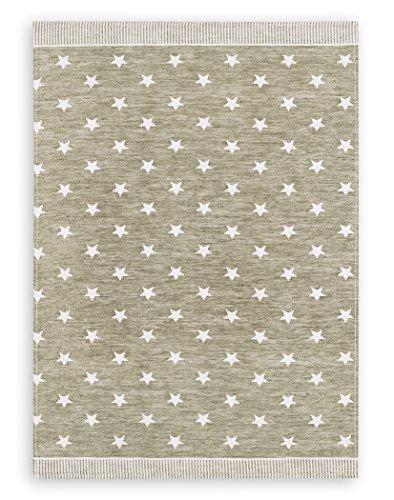 Jacquard-gewebe (KRACHT, Weihnachten, Geschirrtuch Jacquard Gewebe Halbleinen, Serie Sterne, braun, Edition ziczac-affaires, ca.50x70cm)