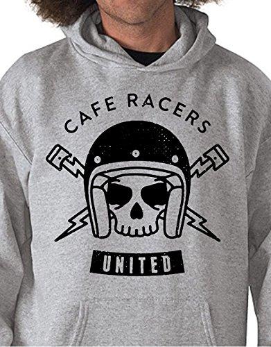 Felpa con cappuccio Cafe Racers United - Tutte le taglie by tshirteria Grigio