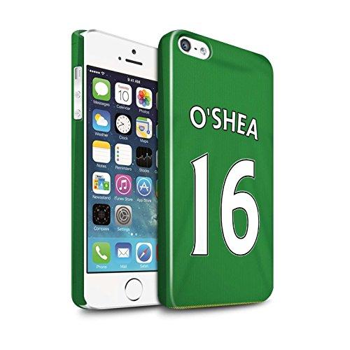 Officiel Sunderland AFC Coque / Clipser Brillant Etui pour Apple iPhone 5/5S / Pack 24pcs Design / SAFC Maillot Extérieur 15/16 Collection O'Shea